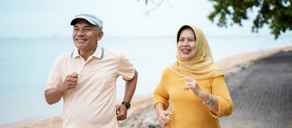 Muslim,Mature,Couple,Doing,Jogging,Together,In,The,Morning